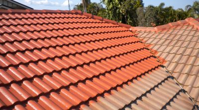 painted roof tiles