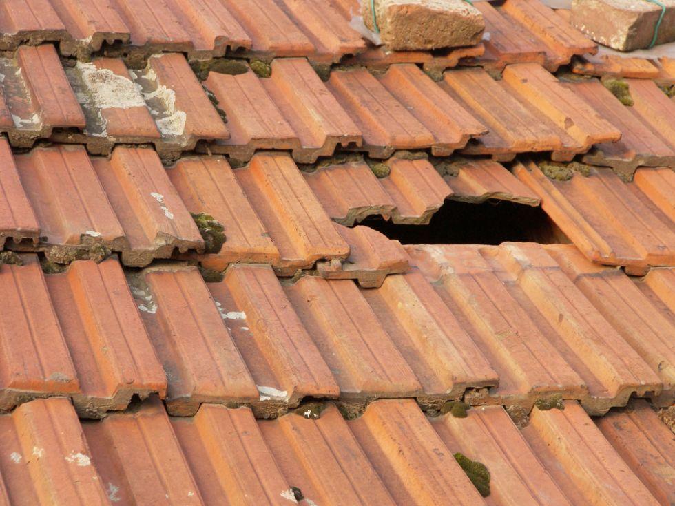 broken tile roof