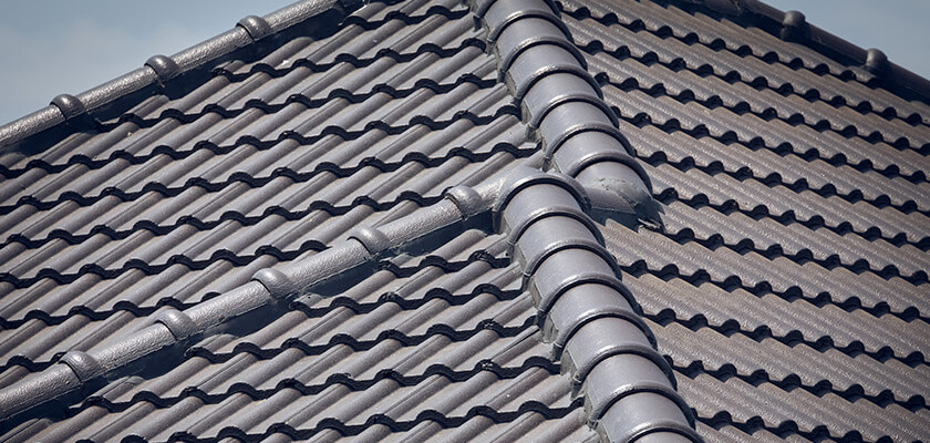 tile roof painted